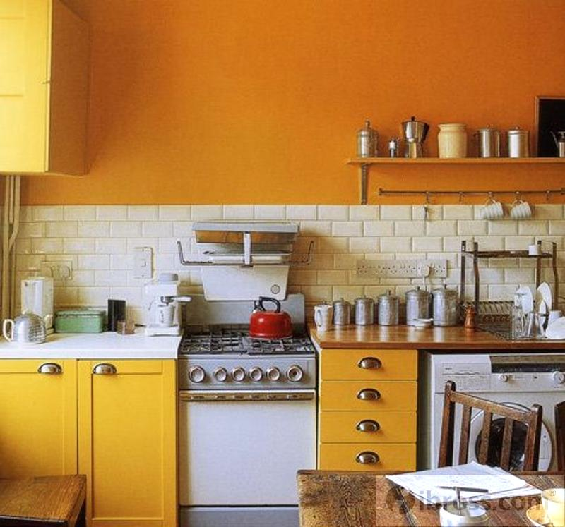 industrial-yellow-kitchen