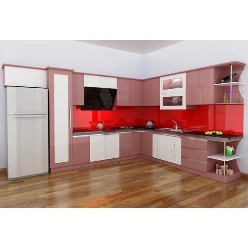 Tủ bếp gỗ chữ L đẳng cấp