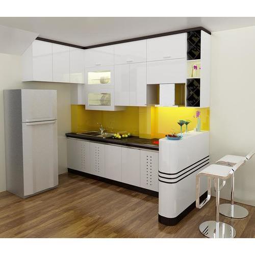 Tủ bếp gỗ sơn cho phòng bếp nhiều điều mới lạ