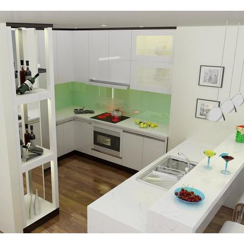 Kéo chồng cùng vào bếp với tủ bếp gỗ có tủ rượu