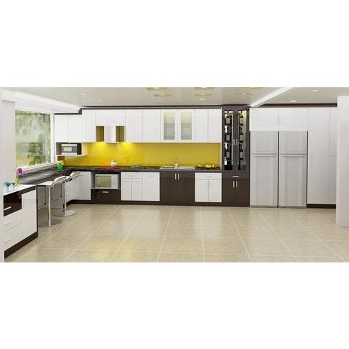 Tủ Bếp gỗ MDF Chữ L Cho Căn Bếp