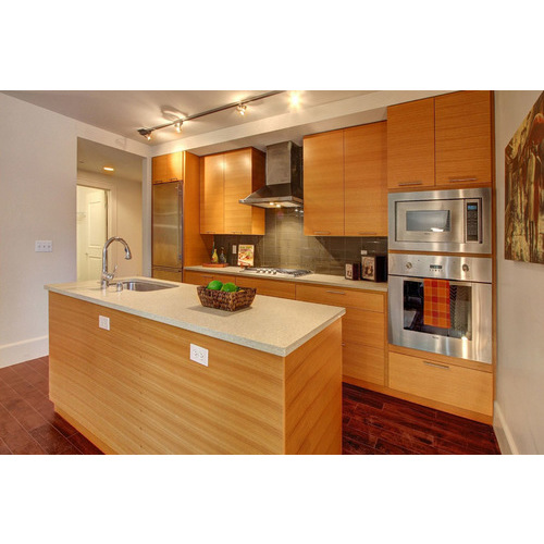 Mẫu thiết kế tủ bếp MDF chữ G đẹp cho nhà nhỏ