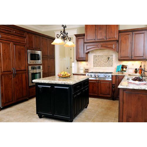 Phòng bếp sang trọng hơn với tủ bếp gỗ gụ đẹp mê hồn