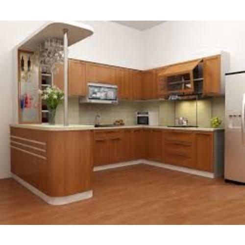 Tủ bếp gỗ sơn trắng tạo không gian sống tinh khôi