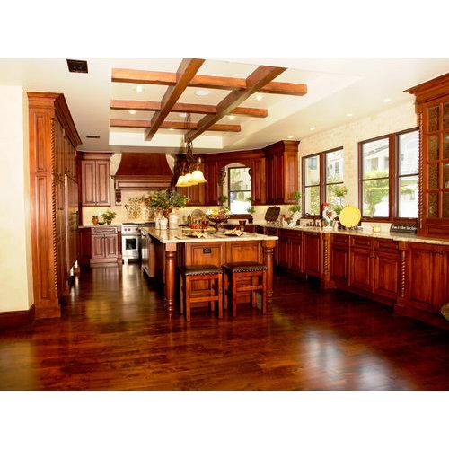 Tủ bếp gỗ sồi nga chính hãng giá bao nhiêu là hợp lý