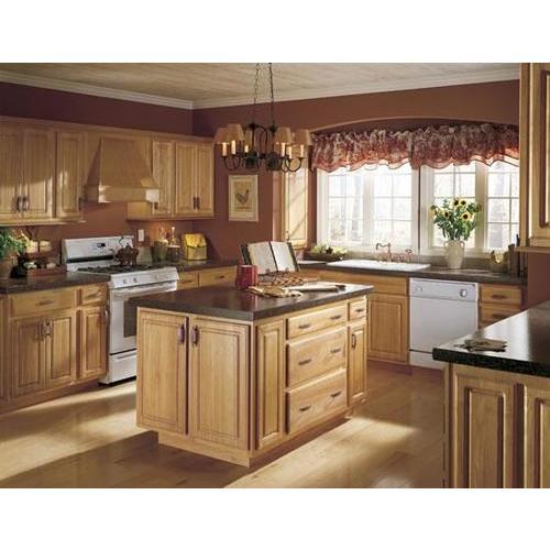 Mẫu tủ bếp vân gỗ đẹp cho phòng bếp gia đình hạnh phúc