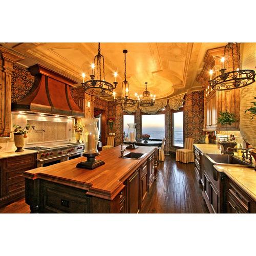 Tủ bếp gỗ sồi Mỹ cho biệt thự đẹp, đẳng cấp