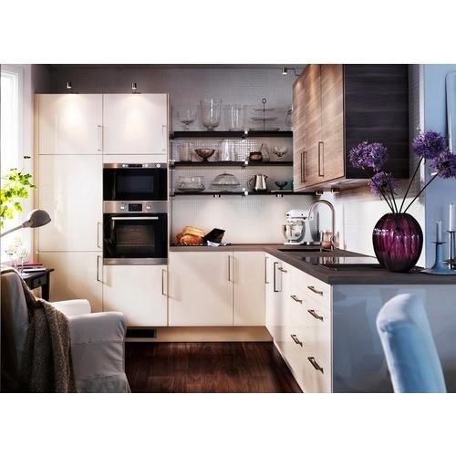 Tủ bếp MDF chữ L cho chung cư đẹp