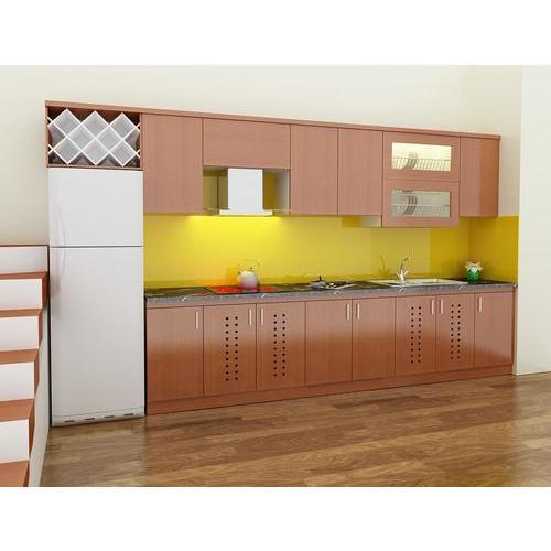 Tủ bếp gỗ chữ I thông minh