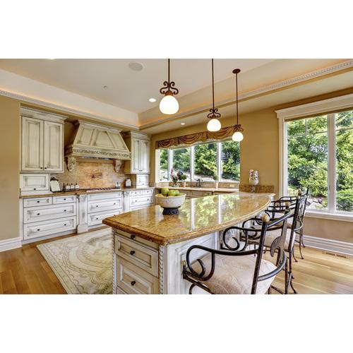 Tủ bếp gỗ chữ I đẹp cho biệt thự
