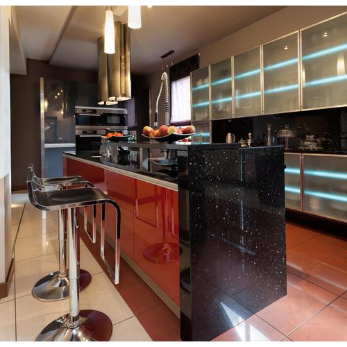 Tủ bếp gỗ chữ I cho chung cư