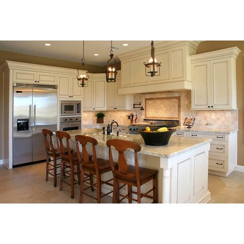 Tủ bếp gỗ chữ L cho bếp gia đình