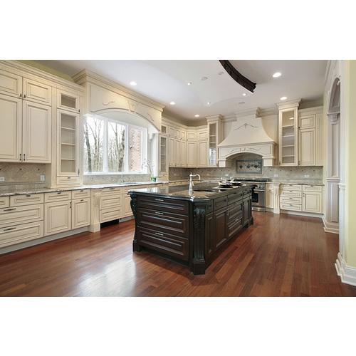 Tủ bếp gỗ có bàn đảo tuyệt đẹp cho gia đình