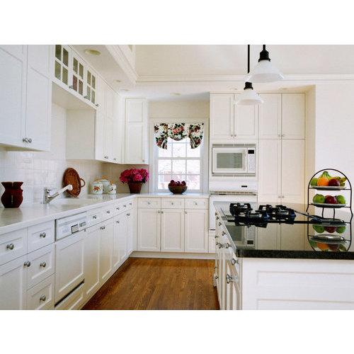Tủ bếp PVC chữ L phủ sơn đẹp nhất