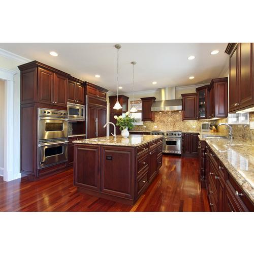Tủ bếp gỗ Laminate có bàn đảo và ý tưởng tuyệt vời