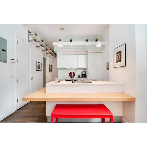 Tủ bếp PVC hiện đại dáng chữ U đẹp
