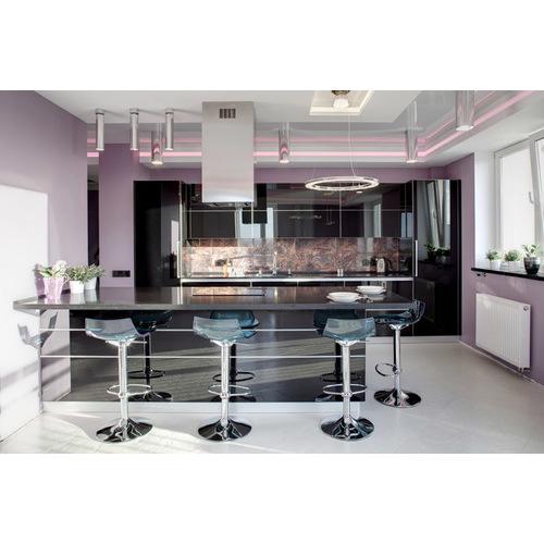 Tủ bếp PVC kiểu chữ U phủ Acrylic 2017