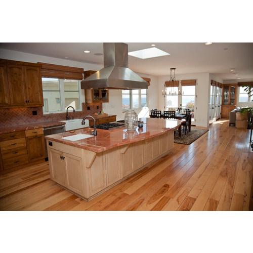 Tủ bếp gỗ tự nhiên chữ I có bàn đảo đẹp