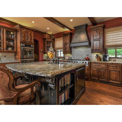 Tủ bếp gỗ tự nhiên cho chung cư đẹp, giá rẻ