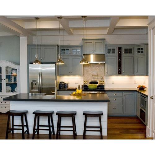 Tủ bếp gỗ chữ L cho nhà nhỏ