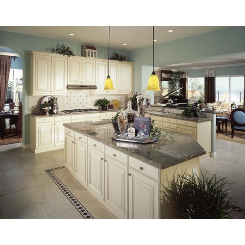Tủ bếp gỗ chữ L cho chung cư