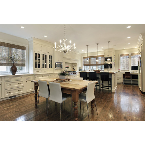 Tủ bếp gỗ chữ L cho phòng bếp tiện nghi