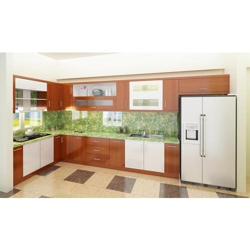 Tủ bếp gỗ chữ L cho phòng bếp