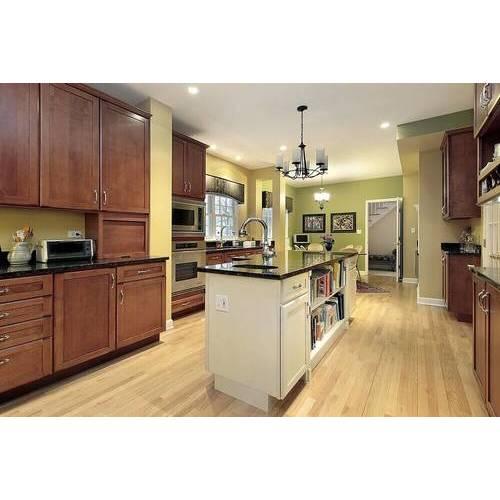 Tủ bếp gỗ sồi Mỹ di dộng, thanh lịch