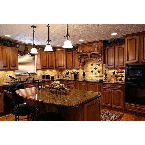 Tủ bếp gỗ xoan đào tự nhiên đẹp