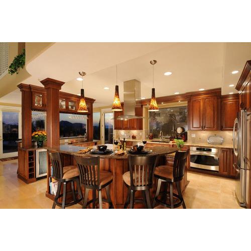 Tủ bếp gỗ xoan đào Tây Bắc đẹp, giá tốt
