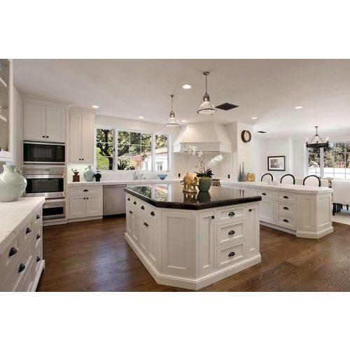 Tủ bếp gỗ xoan đào màu trắng đẹp
