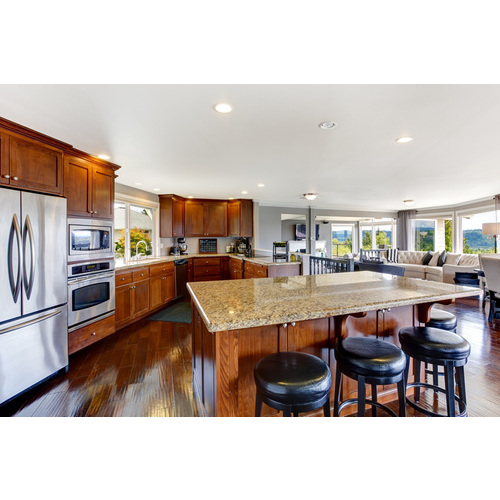 Tủ bếp gỗ sồi Mỹ treo tường đẹp, hiện đại