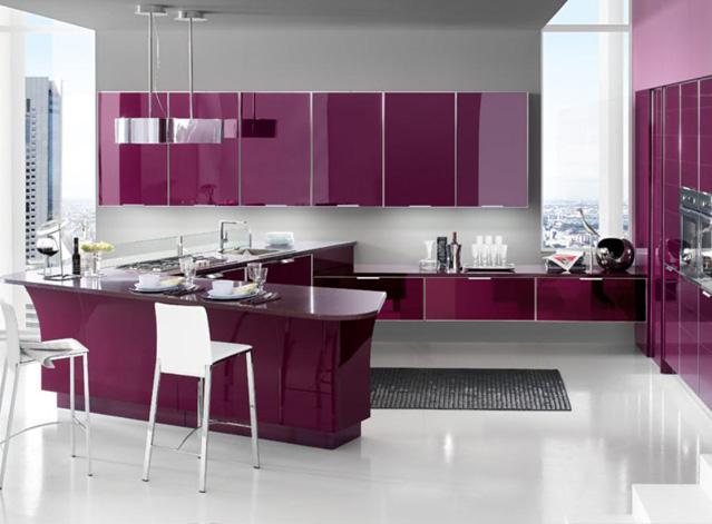 Tủ Bếp Gỗ Acrylic Bóng Gương
