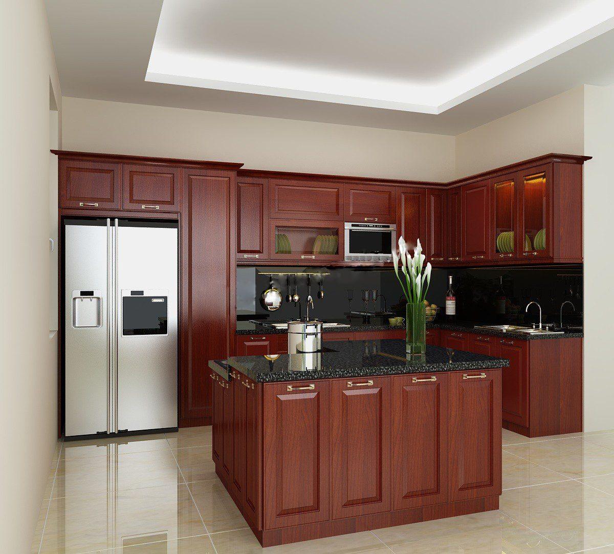Tủ bếp gỗ việt cao cấp chính hãng 100% cho người việt