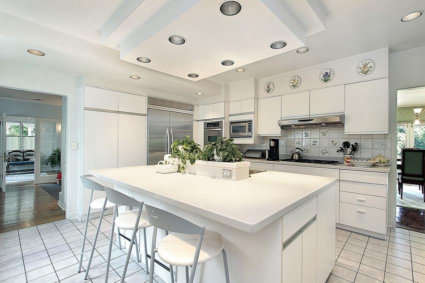 Tủ bếp PVC chữ I phủ Acrylic đẹp