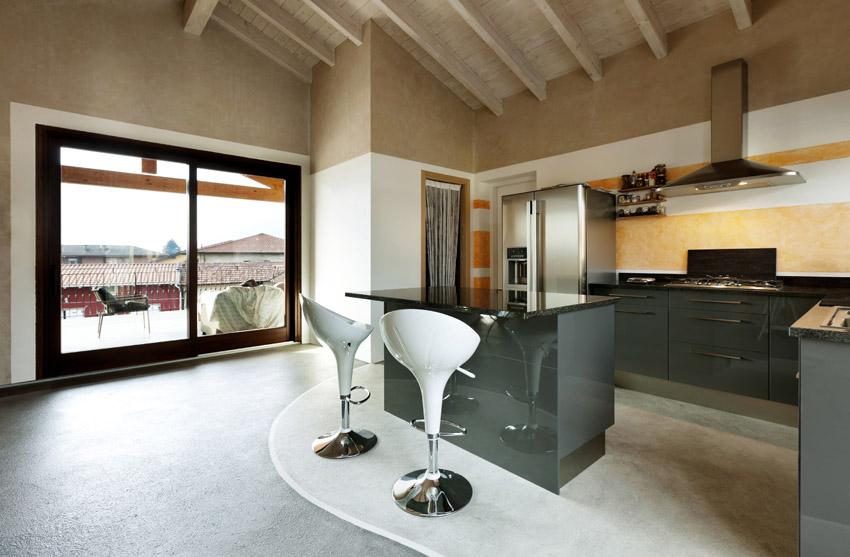 Tủ bếp PVC kiểu chữ U phủ Acrylic