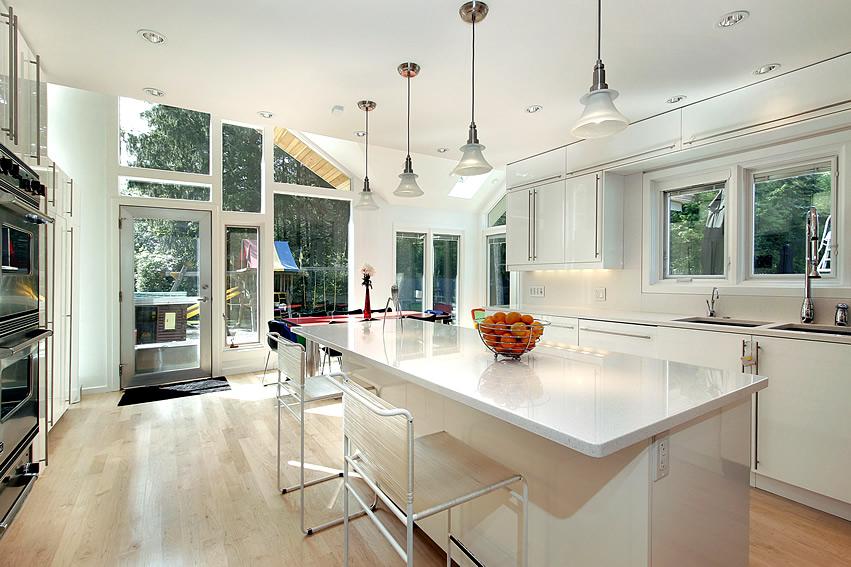 Tủ bếp PVC mini chữ U đẹp