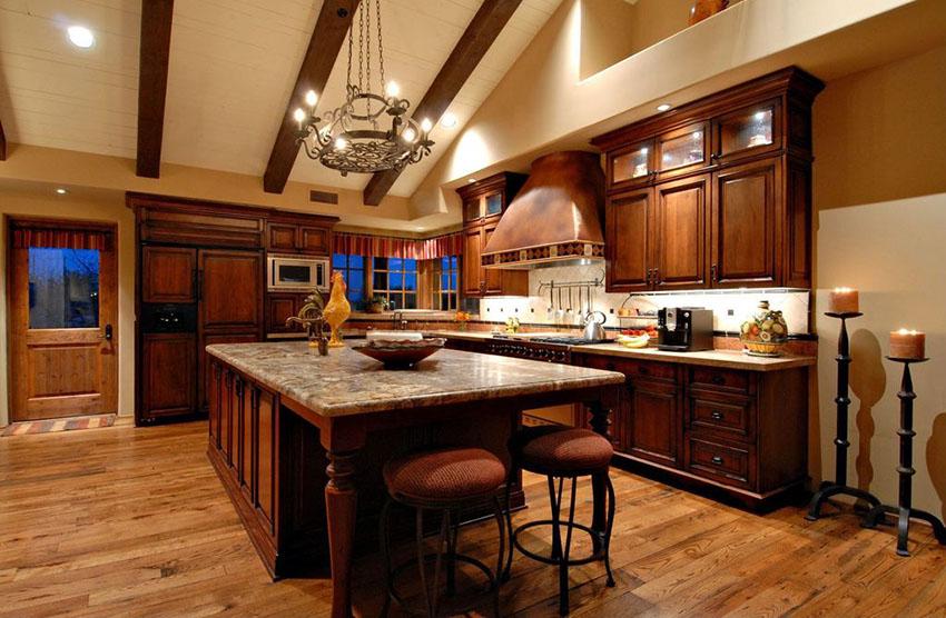 Tủ bếp gỗ sồi Nga độc đáo, đẹp cho gia đình