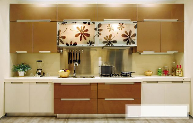 Mẫu tủ bếp MDF giá rẻ cho những hộ gia đình mới